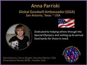 Anna Parriski - Global Goodwill Ambassador