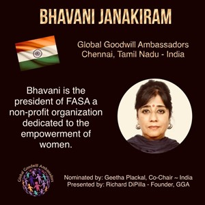 Bhavani Janakiram - India - Global Goodwill Ambassador