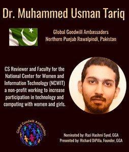 Dr. Muhammed Usman Tariq - Pakistan - Global Goodwill Ambassador