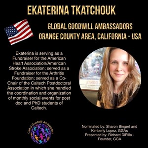 Ekaterina Tkatchouk - California - Global Goodwill Ambassador