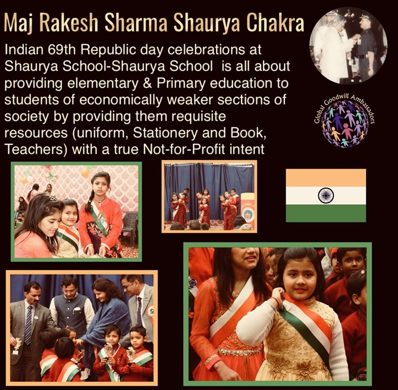 Indian 69th Republic day celebrations at Shaurya School