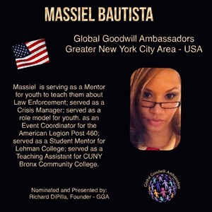 Massiel Bautista - New York - Global Goodwill Ambassador