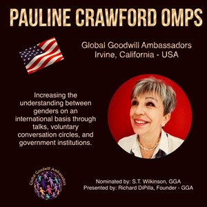 Pauline Crawford OMPS - California - Global Goodwill Ambassador