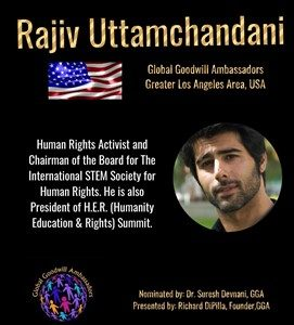 Rajiv Uttamchandani - Global Goodwill Ambassador