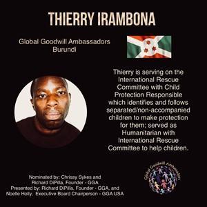 Thierry IRAMBONA - Burundi - Global Goodwill Ambassador