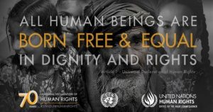 ALL HUMAN BEINGS ARE BORN FREE & EQUAL IN DIGNITY AND RIGHTS - Article 1 - Universal Declaration of Human Rights - UNITED NATIONS