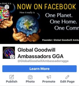 Global Goodwill Ambassadors new on Facebook