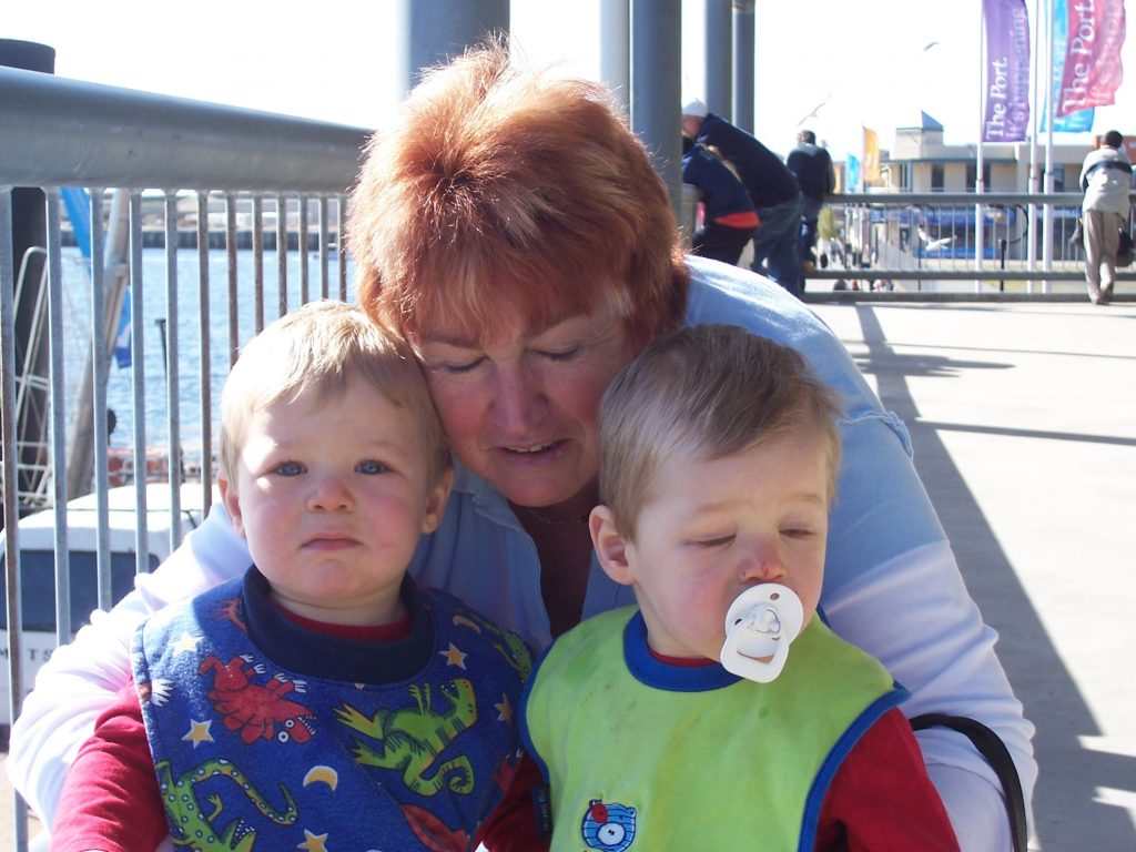Rosemary McKenzie-Ferguson with twin grandsons