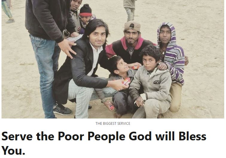 Serve the Poor People - God will Bless You - Balvinder Singh from Kurukshetra - Haryana - India
