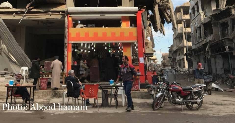 street cafe - Syria #cryforpeace
