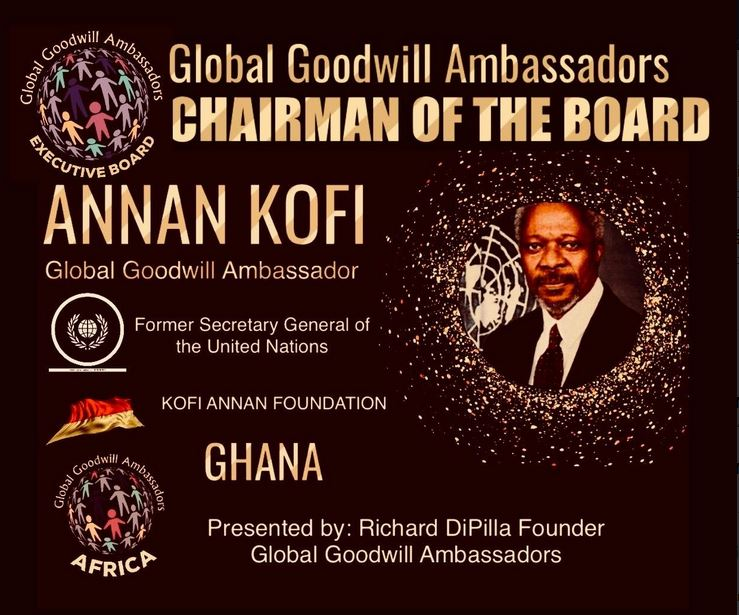 Annan Kofi - former Secretary General of the United Nations - Peace Nobel Prize Winner and Global Goodwill Ambassador