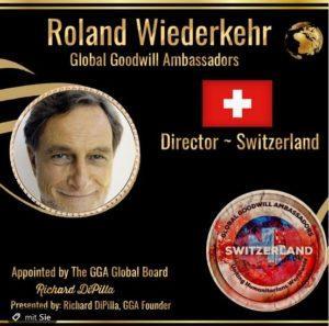Roland Wiederkehr Global Goodwill Ambassadors Director Switzerland